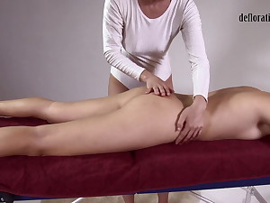 Jankovska gets her feet increased by bore massaged