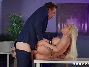 Big breasts sinner Skyler McKay fucked hard in the place