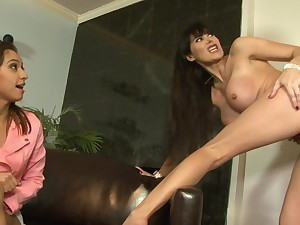 Horny man deep fucks MILF and their way daughter in home troika