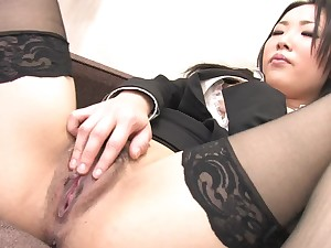 Gorged Japanese solo masturbation with hot doll Ai Mizushima