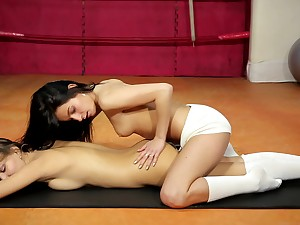 Elegant oral play be incumbent on team a few lezzie dolls in need be incumbent on pussy