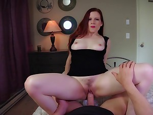 Lady Fyre breathing with naughty notions during POV encounter