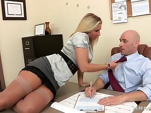 Watch surprising blonde wife Devon Lee sucks and fucks a big dick