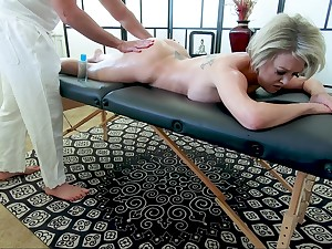 Busty of age pornstar Dee Williams gets a massage together with enjoys having sex